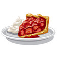 baked strawberry pie vector image vector image