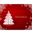 Origami paper Christmas tree vector image vector image