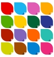 16 colored blank stickers vector image