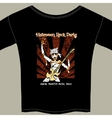 T Shirt with Halloween Rock Music Show Graphic vector image
