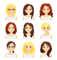Set of cute girls vector image vector image