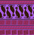 Ethnic seamless pattern with elegance cats vector image