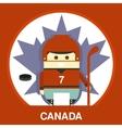 Canadian in Hockey Uniform vector image