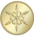 gold coin snowflake vector image vector image