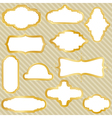 golden retro frames vector image vector image