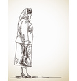 standing woman vector image