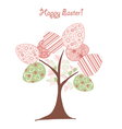 easter background tree vector image vector image