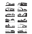 Construction of roads bridges and tunnels vector image vector image