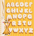 Children alphabet with lace ribbons and giraffe vector image vector image