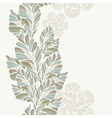 Decoration From Leaves Vertical Seamless Pattern vector image