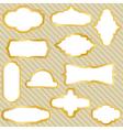 golden retro frames vector image