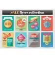 Set of colorful Sale flyers Best creative design vector image