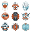 Sport clubs labels icons set vector image