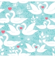Swans in love seamless pattern background vector image