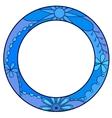 Blue circle symbol of diabetes day vector image vector image
