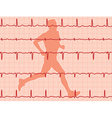 heartbeat and running man vector image vector image