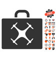 drone case icon with love bonus vector image