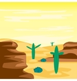 Desert and cactuses vector image