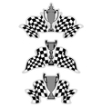 Racing sport emblems vector image vector image