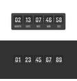 countdown clock timer set vector image vector image