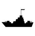 Warship icon vector image