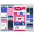 Startup Bundle Material Series Mobile App UI and vector image