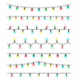 Christmas light bulbs set vector image