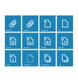File Clip icons on blue background vector image