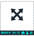 Four arrows icon flat vector image
