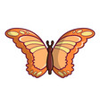 monarch butterfly icon cartoon style vector image
