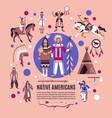 native americans design concept vector image