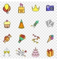Party set icons vector image