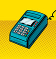 payment terminal comic book style vector image