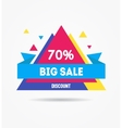 Sale Banner Geometric vector image