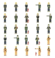 Set of firemen vector image