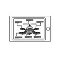 smart controller digital drone technology vector image