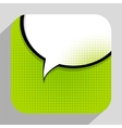 Speech Bubble Pop Art Background On Dot Background vector image