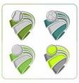sports balls ribbons vector image