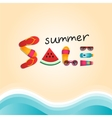 Summer sale flat lay banner vector image