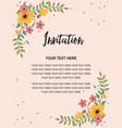 wedding invitation greeting card template vintage vector image