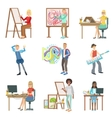 Different Artistic Professions Set Of vector image