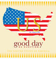 Good day voting results US election vector image