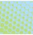 Background with green and blue dots vector image vector image