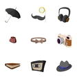 Hipster people icons set flat style vector image