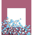 Blue flowers card vector image