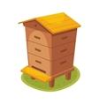 Manmade Wooden Farm Beehive Cartoon vector image