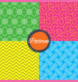 braid weave floral ornate seamless textures vector image