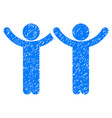 hands up children grunge icon vector image