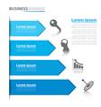 Business arrow banner infographics vector image vector image