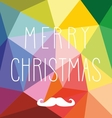 Christmas card with hipster mustache and wishes vector image